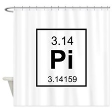 Pi element Shower Curtain