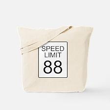 88 Miles per Hour Tote Bag