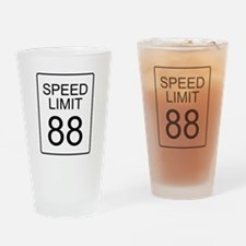 88 Miles per Hour Drinking Glass