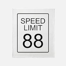 88 Miles per Hour Throw Blanket