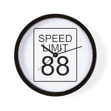 88 Miles per Hour Wall Clock