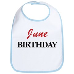 June birthday Bib