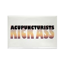 Acupuncturists Kick Ass Rectangle Magnet (100 pack