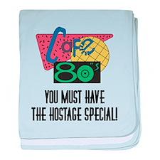 Cafe 80s Hostage Special baby blanket
