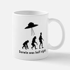 Darwin Was Half Right. Mugs