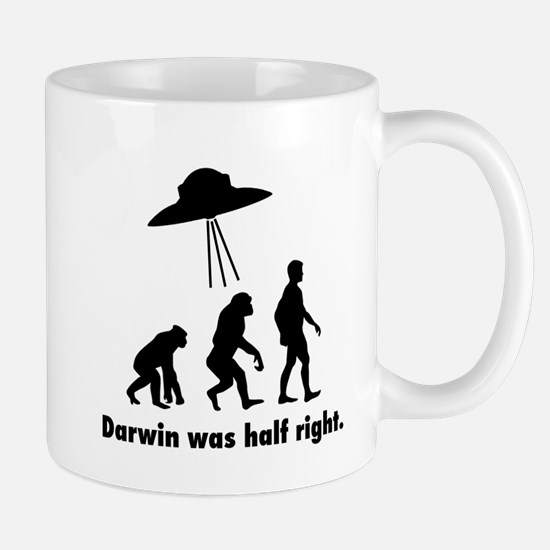 Darwin Was Half Right. Mugs