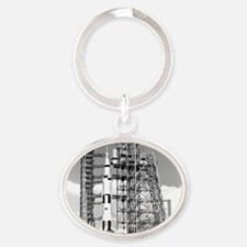 Saturn V Oval Keychain