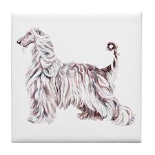 Afghan Hound Elegance Tile Coaster