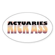 Actuaries Kick Ass Oval Decal