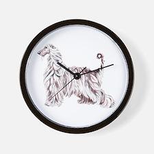 Afghan Hound Elegance Wall Clock