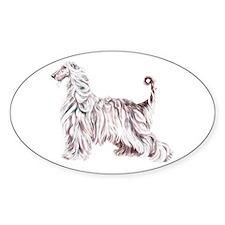Afghan Hound Elegance Oval Bumper Stickers