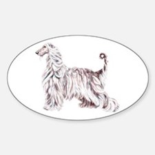Afghan Hound Elegance Oval Decal