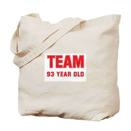 Team 93 YEAR OLD Tote Bag
