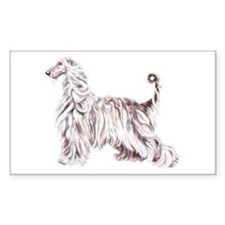 Afghan Hound Elegance Rectangle Decal