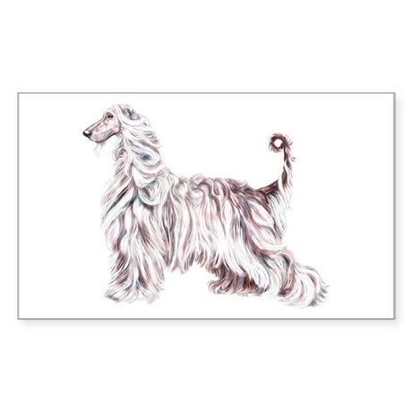 Afghan Hound Elegance Rectangle Sticker