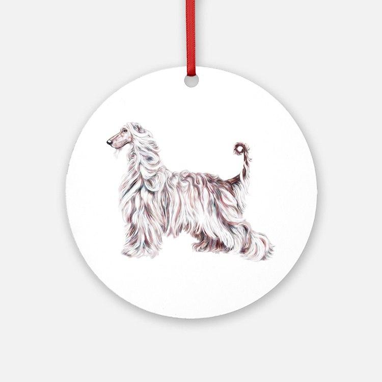 Afghan Hound Elegance Ornament (Round)