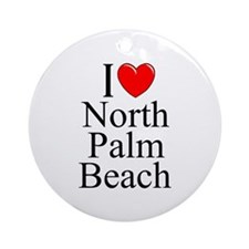 """I Love North Palm Beach"" Ornament (Round)"