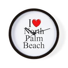 """""""I Love North Palm Beach"""" Wall Clock"""
