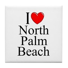 """I Love North Palm Beach"" Tile Coaster"