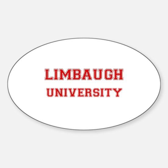 LIMBAUGH UNIVERSITY Oval Decal