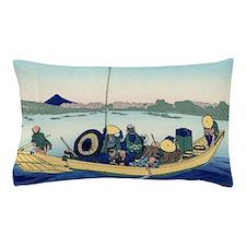 Hokusai Sunset across Ryogoku Bridge Pillow Case