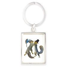 Dancing Squirrel Portrait Keychain