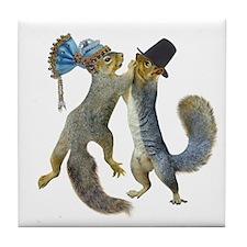 Dancing Squirrel Tile Coaster
