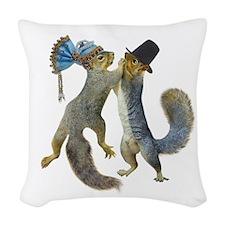 Dancing Squirrel Woven Throw Pillow
