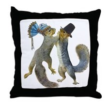 Dancing Squirrel Throw Pillow