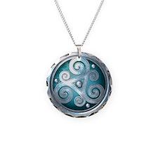 Celtic Double Triskelion - T Necklace