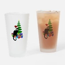 Christmas Le Chat Noir With Santa H Drinking Glass