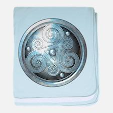 Celtic Double Triskelion - Silver baby blanket