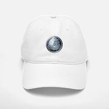 Celtic Double Triskelion - Silver Baseball Baseball Cap