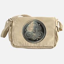Celtic Double Triskelion - Silver Messenger Bag