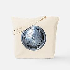 Celtic Double Triskelion - Silver Tote Bag