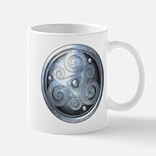 Celtic Double Triskelion - Silver Mug