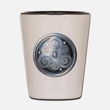 Celtic Double Triskelion - Silver Shot Glass