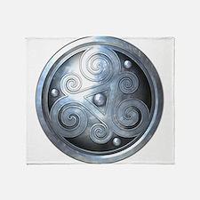 Celtic Double Triskelion - Silver Throw Blanket
