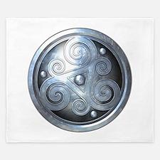 Celtic Double Triskelion - Silver King Duvet