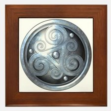 Celtic Double Triskelion - Silver Framed Tile