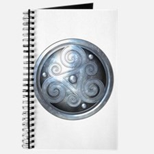 Celtic Double Triskelion - Silver Journal