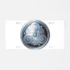 Celtic Double Triskelion - Aluminum License Plate