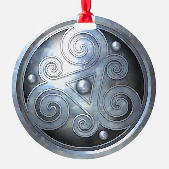 Celtic Double Triskelion - Silver Ornament