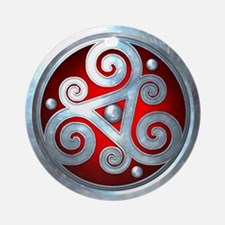 Celtic Double Triskelion - Red Ornament (Round)