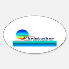 Christopher Oval Decal