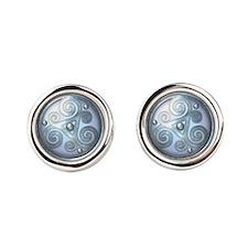 Celtic Double Triskelion - Moonsto Round Cufflinks