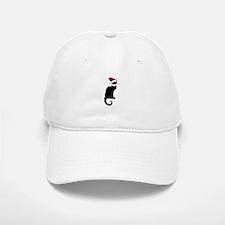 Christmas Le Chat Noir With Santa Hat Baseball Baseball Cap