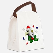 Christmas American Eagle Canvas Lunch Bag