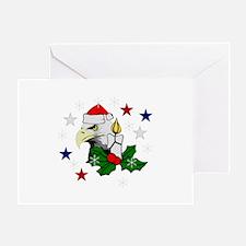 Christmas American Eagle Greeting Card