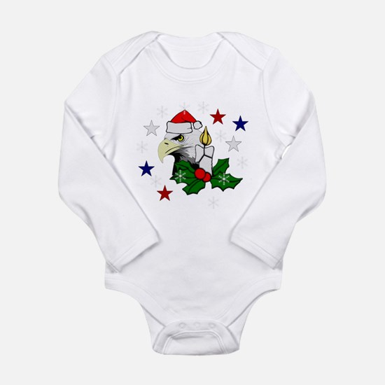 Christmas American Eag Long Sleeve Infant Bodysuit
